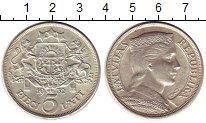 Изображение Монеты Латвия 5 лат 1932 Серебро XF Герб