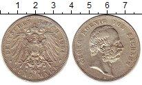 Изображение Монеты Саксония 5 марок 1904 Серебро XF Георг