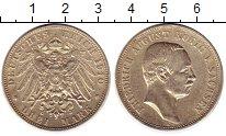 Изображение Монеты Саксония 3 марки 1910 Серебро XF Е   Фридрих