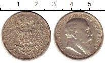 Изображение Монеты Германия Баден 2 марки 1907 Серебро XF