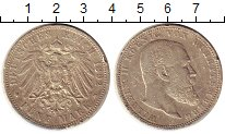 Изображение Монеты Германия Вюртемберг 5 марок 1892 Серебро VF