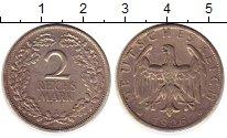 Изображение Монеты Веймарская республика 2 марки 1926 Серебро XF-