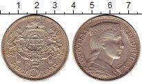 Изображение Монеты Латвия 5 лат 1931 Серебро XF Девушка