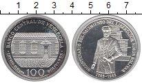 Изображение Монеты Венесуэла 100 боливар 1983 Серебро Proof- 200-летие Симона Бол