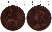 Изображение Монеты Великобритания 1 пенни 1900 Бронза XF-