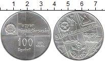 Изображение Монеты Венгрия 100 форинтов 1974 Серебро UNC-