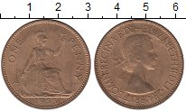 Изображение Монеты Великобритания 1 пенни 1953 Бронза UNC-