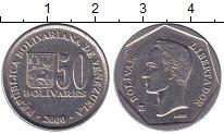 Изображение Монеты Венесуэла 50 боливар 2000 Медно-никель UNC- Боливар - Освободите