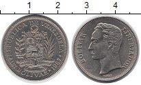 Изображение Монеты Венесуэла 1 боливар 1967 Медно-никель XF Симон Боливар.