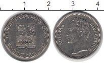 Изображение Монеты Венесуэла 50 сентим 1965 Медно-никель XF Симон Боливар.