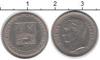 Изображение Монеты Венесуэла 25 сентим 1965 Медно-никель XF Симон Боливар.