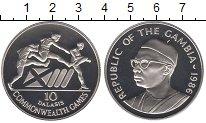 Изображение Монеты Гамбия 10 даласи 1986 Серебро Proof-