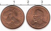 Изображение Монеты Гамбия 1 бутут 1974 Бронза UNC- Арахис