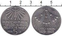 Изображение Монеты ФРГ 5 марок 1979 Медно-никель UNC- G  100 - летие  Отто