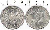 Изображение Монеты ФРГ 10 марок 1972 Серебро UNC- G. Олимпийские игры