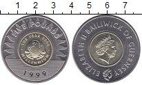Изображение Монеты Великобритания Гернси 5 фунтов 1999 Биметалл UNC-