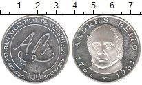 Изображение Монеты Венесуэла 100 боливар 1981 Серебро Proof- Андрес Белло