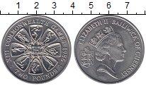 Изображение Монеты Гернси 2 фунта 1986 Медно-никель UNC- Игры содружества