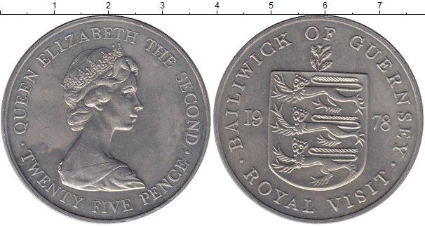 Картинка Монеты Гернси 25 пенсов Медно-никель 1978
