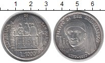 Монета Сан-Марино 1000 лир Серебро 1977 UNC- фото