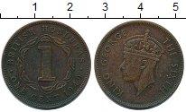 Изображение Монеты Белиз 1 цент 1949 Медь XF Британский Гондурас.