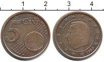Изображение Монеты Бельгия 5 евроцентов 1999 Медь XF Альберт II