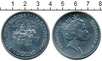 Изображение Монеты Бермудские острова 1 доллар 1996 Медно-никель UNC Елизавета II. Виват
