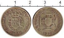 Изображение Монеты Сан-Томе и Принсипи 2 1/2 эскудо 1948 Серебро VF Колония Португалии