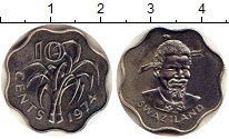 Изображение Монеты Свазиленд 10 центов 1974 Медно-никель XF