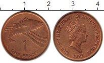 Изображение Монеты Остров Святой Елены 1 пенни 1997 Медь UNC- Елизавета II