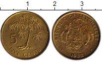 Изображение Монеты Сейшелы 5 центов 1982 Медь UNC-
