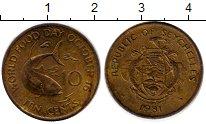 Изображение Монеты Сейшелы 10 центов 1981 Латунь XF