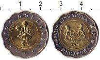 Изображение Мелочь Сингапур 5 долларов 1998 Биметалл UNC цветок