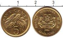 Изображение Монеты Сингапур 5 центов 1986 Латунь UNC-