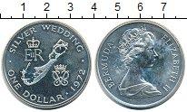 Изображение Монеты Бермудские острова 1 доллар 1972 Серебро UNC- Серебряный юбилей Ел