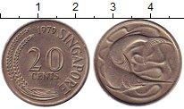 Изображение Монеты Сингапур 20 центов 1979 Медно-никель UNC-