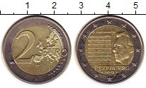 Изображение Монеты Люксембург 2 евро 2013 Биметалл UNC- Национальный  гимн