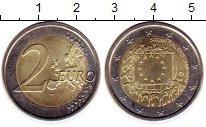 Изображение Монеты Финляндия 2 евро 2015 Биметалл UNC- 30  лет  флагу  ЕС