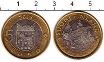 Изображение Монеты Финляндия 5 евро 2015 Биметалл UNC- Животные. Хяме. Рысь