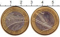 Изображение Монеты Финляндия 5 евро 2016 Биметалл UNC- Прыжки с трамплина