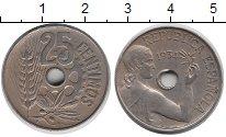 Изображение Монеты Испания 25 сентим 1934 Медно-никель XF