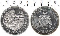 Изображение Монеты Барбадос 10 долларов 1976 Серебро Proof-