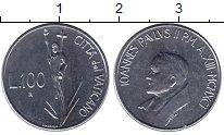 Изображение Монеты Ватикан 100 лир 1991 Железо UNC-