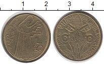 Изображение Монеты Ватикан 20 лир 1975 Латунь UNC-