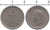 Изображение Монеты Великобритания 6 пенсов 1948 Медно-никель XF
