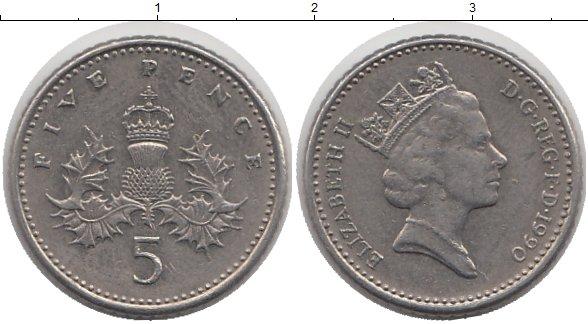 5 pence 1990 цена 20 евроцентов