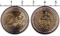 Изображение Монеты ФРГ 2 евро 2015 Биметалл UNC- 25  лет  объединения