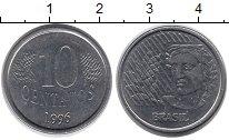 Изображение Монеты Бразилия 10 сентаво 1996 Медно-никель UNC-
