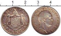 Изображение Монеты Албания 1 франк 1937 Серебро VF