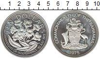 Изображение Монеты Багамские острова 10 долларов 1975 Серебро Proof- Независимость